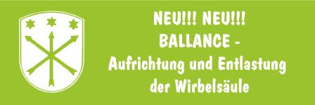 NEU! BALLANCE – Aufrichtung und Entlastung der Wirbelsäule